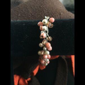 Jewelry - Peach and White bracelet